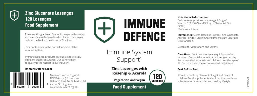 Immune defence ingredients