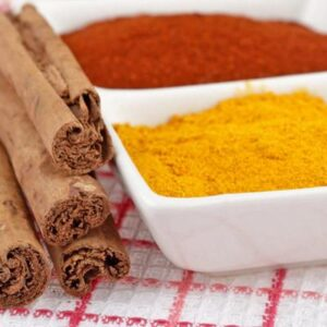 Cinnamon and turmeric